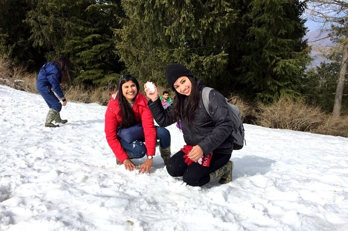 Snowfall in kufri
