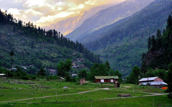 Kinnaur during sunset