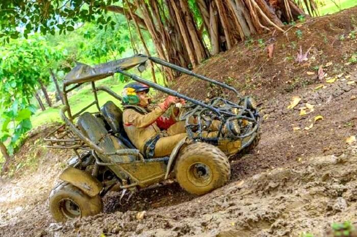 Mud carting adventure in Casela