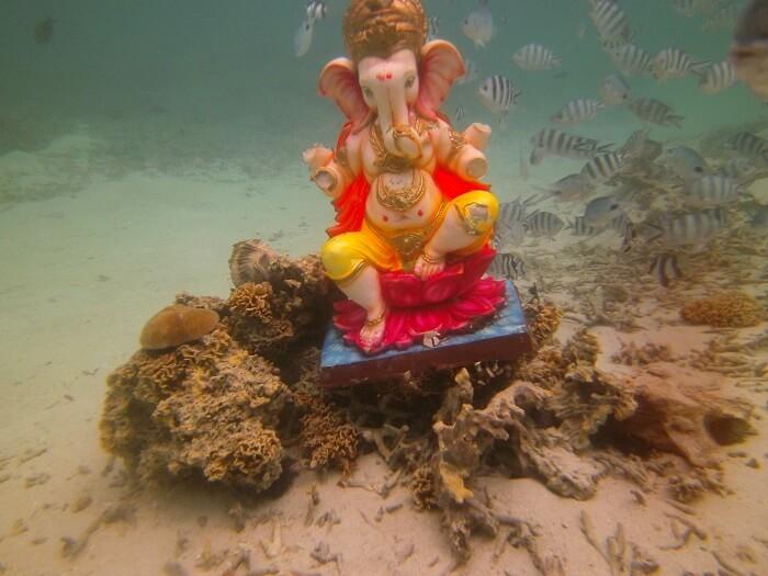 Ganpati statue in mauritius