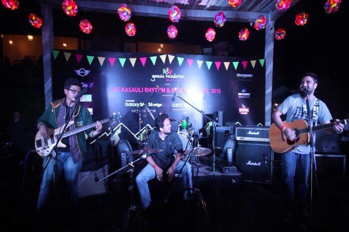 Music band at Kasauli Rhythm and Blues Festival