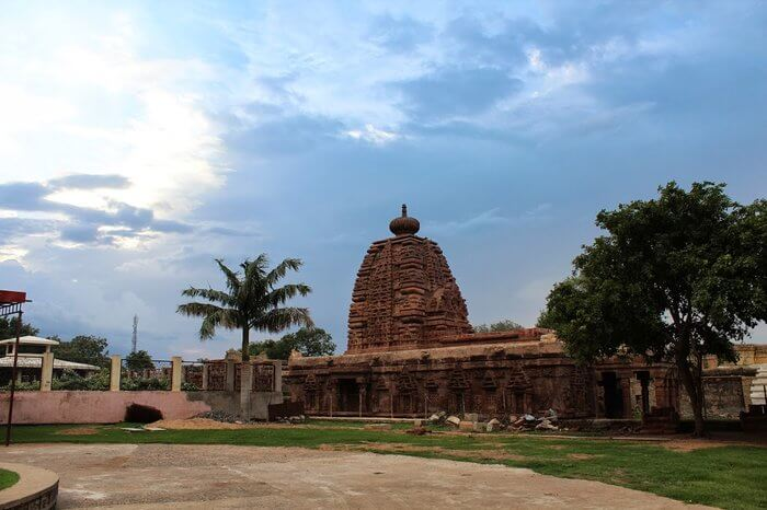 Mahbubnagar ancient temple and blue sky