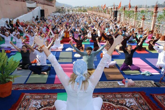 yoga at Parmarth Niketan Ashram in Rishikesh