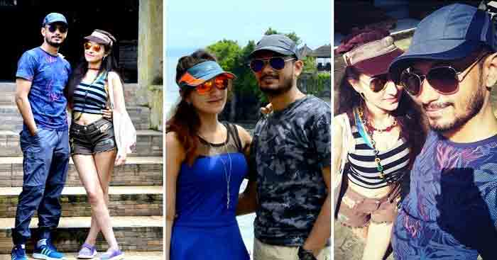 Sanchit with his wife on a vacation in Bali