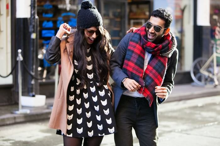 Vidit Taneja & Savi Munja playfully posing for a photo