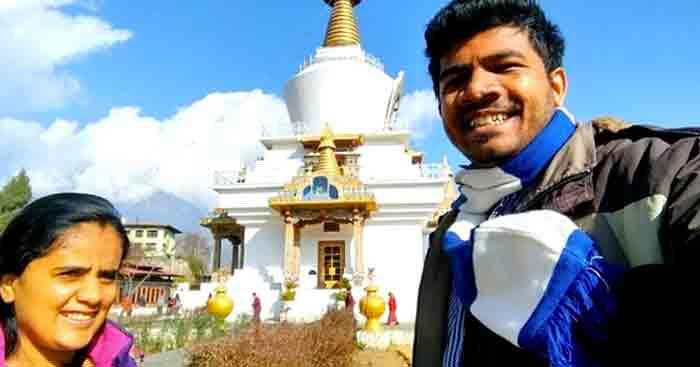 Srinidhi on a trip to Bhutan