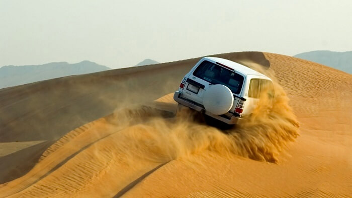 Dune bashing in Jaisalmer, India