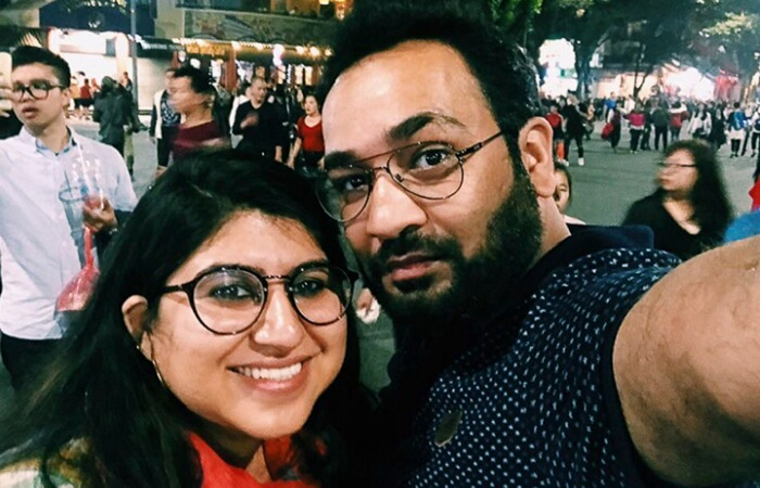 Neha and Paras sightseeing in Hanoi