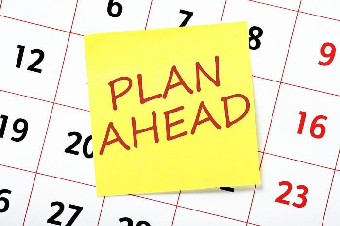 Plan Ahead Calendar