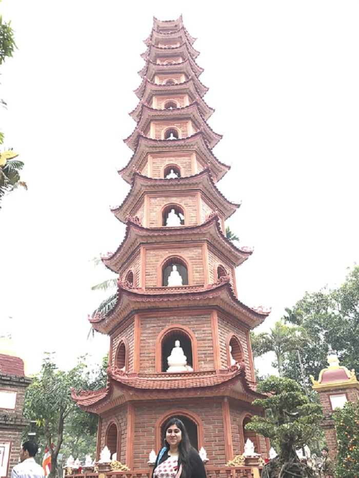 A great view of one pillar pagoda