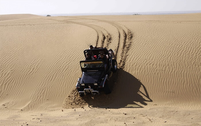 Jeep safari in desert of Jaisalmer