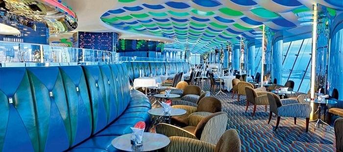 Fine dining at Culinary Delight, Burj Al Arab in Dubai