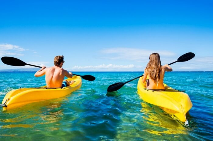 Couple Kayaking in Lake Mead, Las Vegas