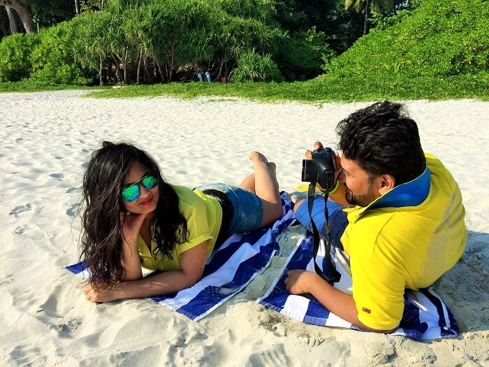 Romantic couple at the beach in Andaman