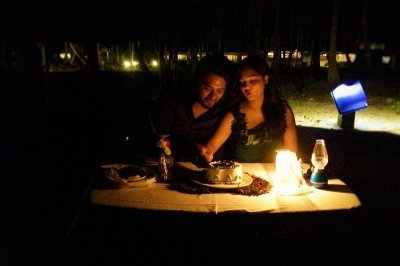 Romantic couple on a date night in Andaman