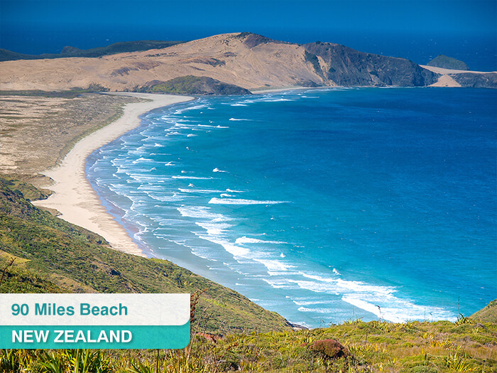 90 Miles Beach in New Zealand