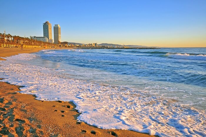 La Barceloneta Beach in Spain