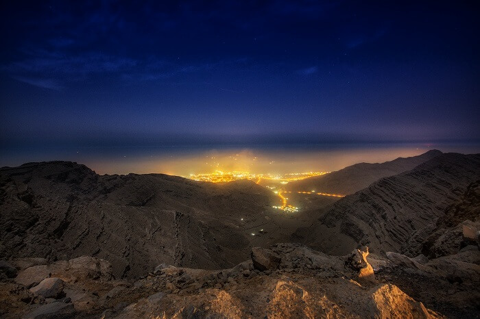 Hiking at Jabal Al Jais, Dubai