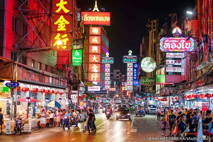 Chinatown night market in Bangkok