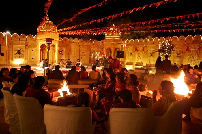 A marriage going on at Fort Rajwada in Jaisalmer