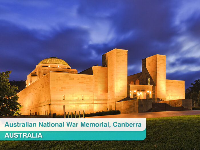 Australian National War Memorial in Canberra Australia