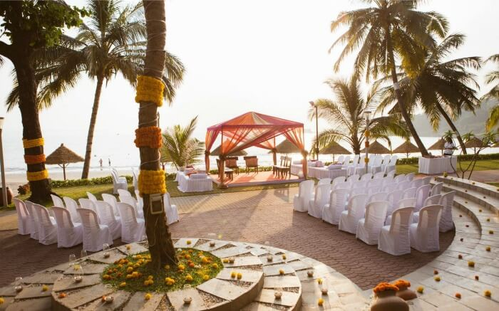 Wedding set up in Cidade de Goa