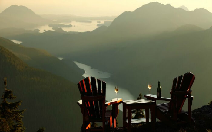 Romantic dine and wine in Clayoquot Wilderness Resort