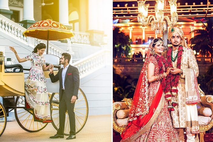 Couples getting married at Taj Falaknuma in Hyderabad