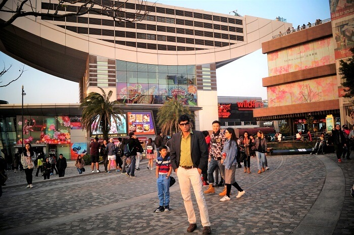 Sudip poses for a picture in Hong kong