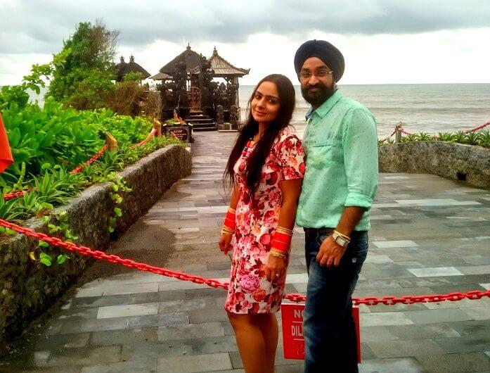 Couple around Bali