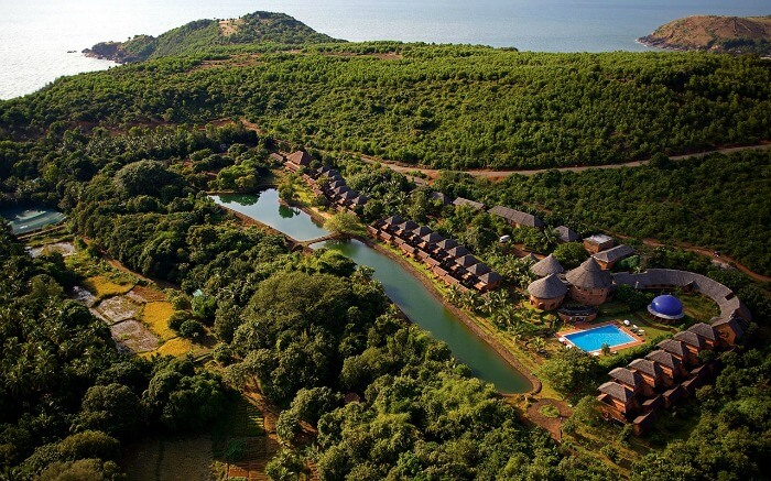 Bird's eye view of Gokarna - one of the best mini moon destinations