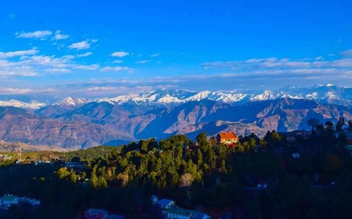 Mountainscape of Himachal on a winter morning