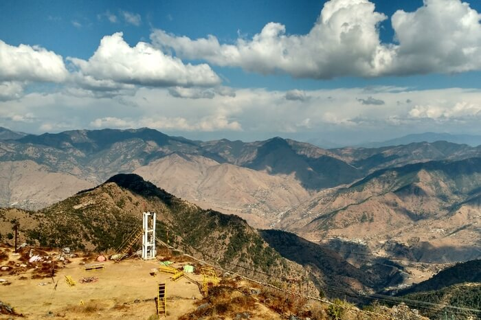 Mountain view of Mussoorie on a beautiful day
