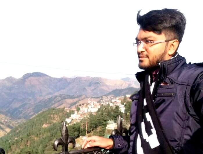 Male tourist in shimla