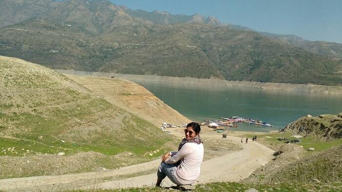 fantastic view of tehri lake
