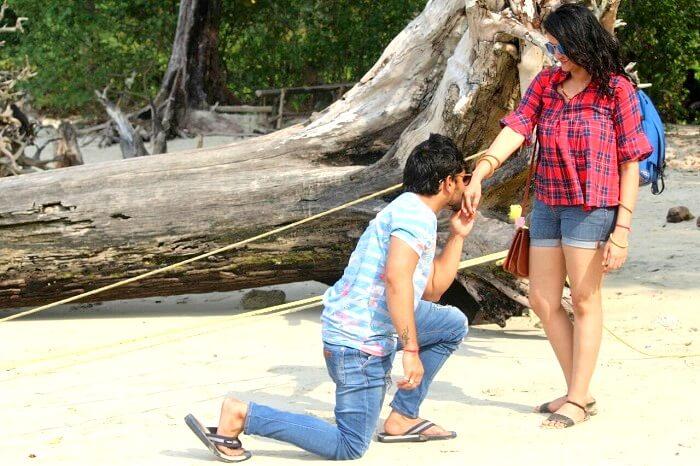 Couple touring Andaman