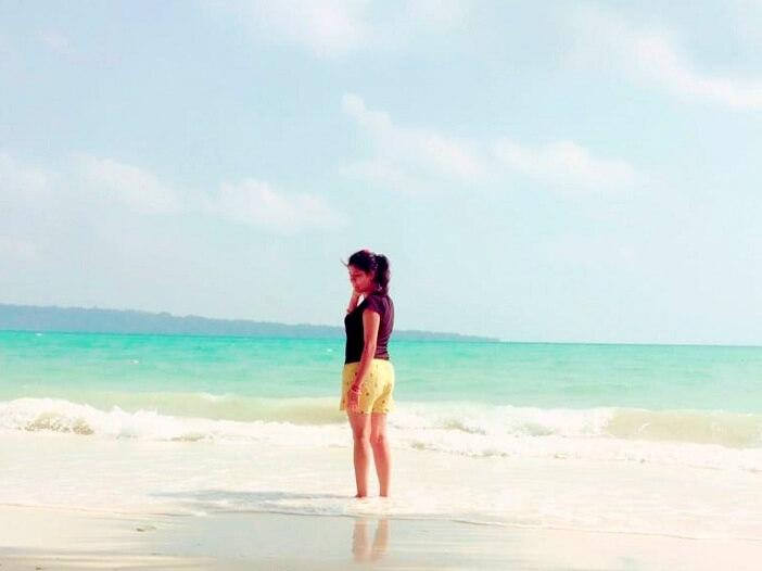Tourist in Radhanagar beach