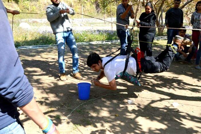 adventure activities at camp advait