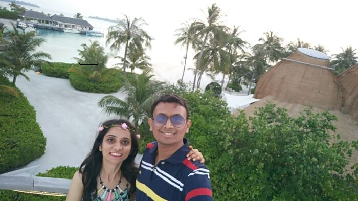 pranav and his wife in maldives