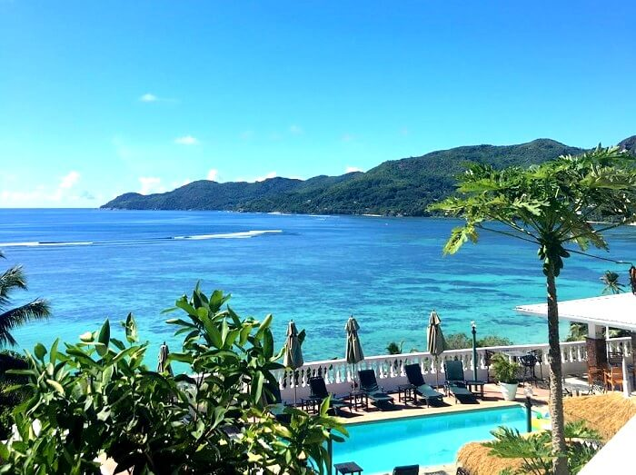 Seychelles resort view
