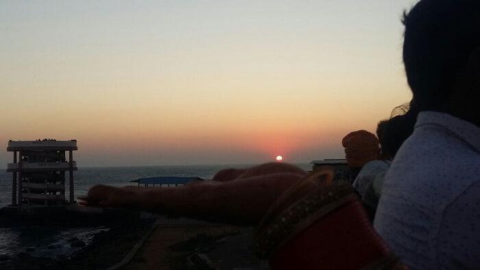 sunset tiruvandrum