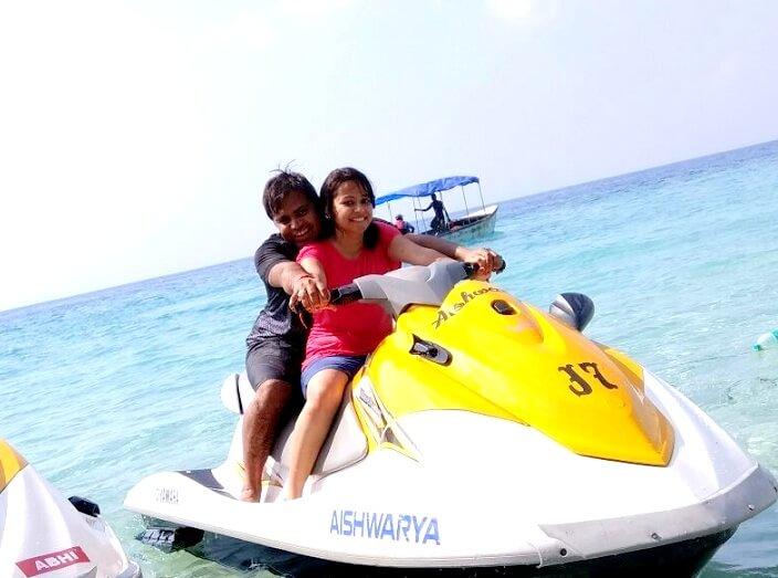 Jet ski in Andaman