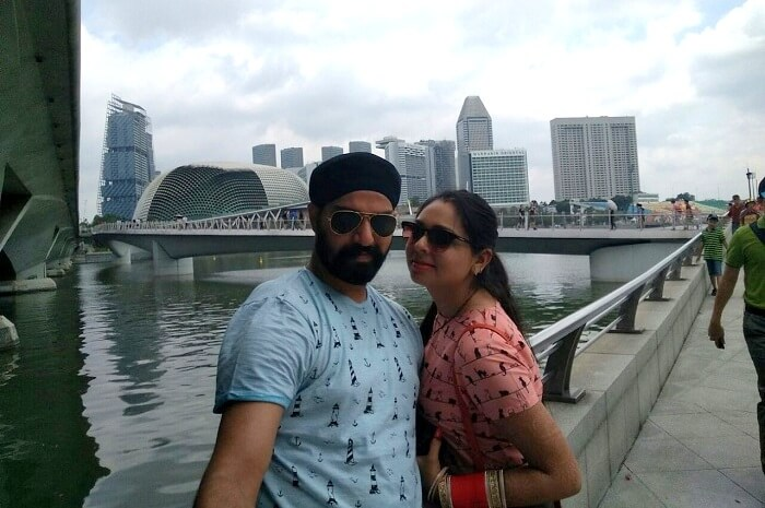 gurpreet enjoying at marina bay