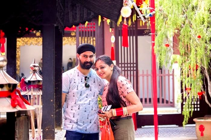 gurpreet and his wife in Singapore