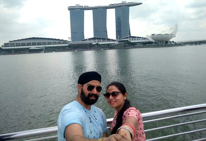 outside marina bay sands