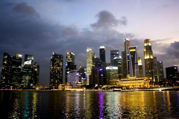 beautiful skyline in singapore
