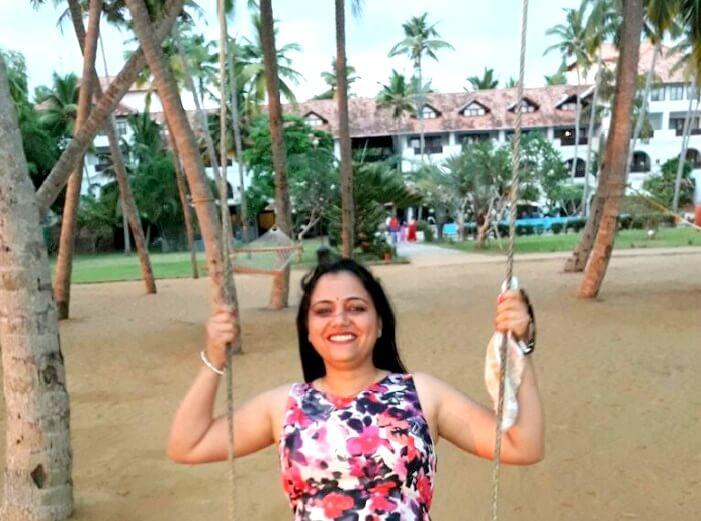 Female tourist around Kerala