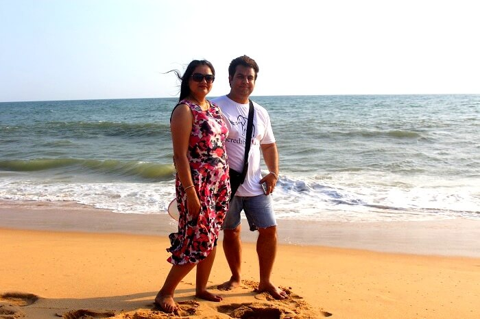 Couple enjoying Kerala beaches