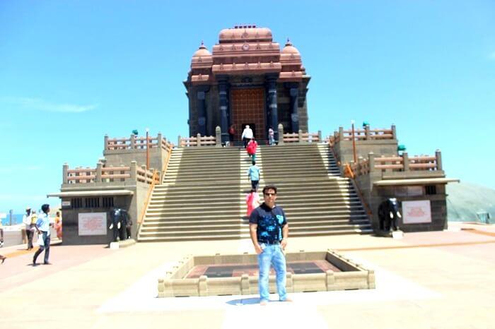 Tourist in kerala temple