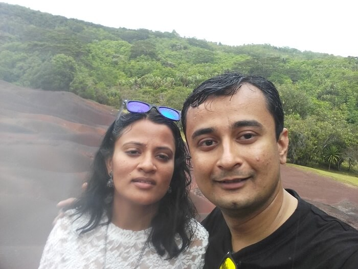 Neha and her family doing the south island tour in mauritius